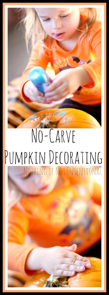 No-carve pumpkin decorating ideas. Safe, last-minute pumpkin fun.