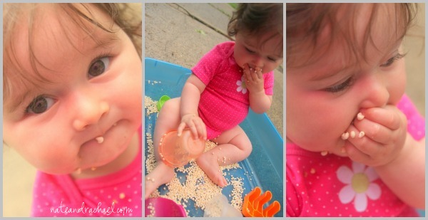 edible sensory play--cereal