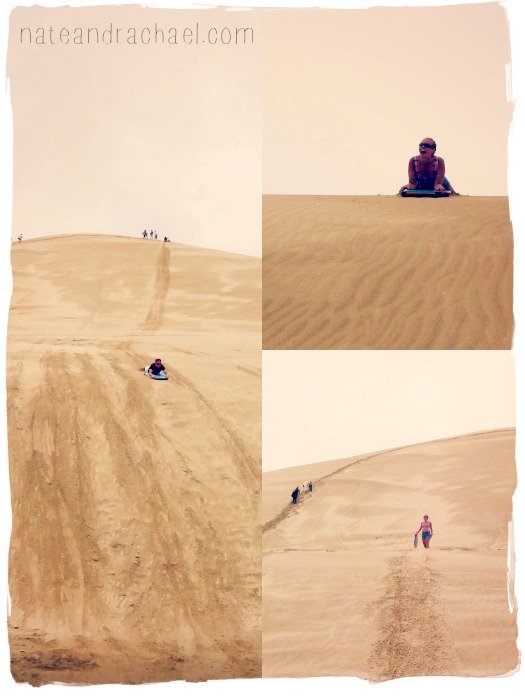 Boogie boarding on sand dunes! Read post for details on what it is and where you can do it!