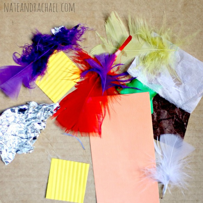 Craft ideas for kids--exploring texture