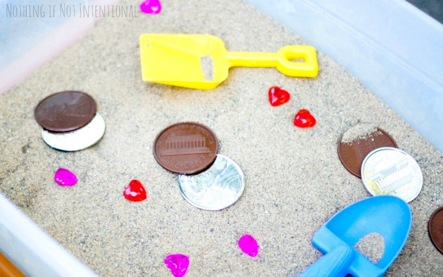 Buried Treasure Pirate Sensory Bin