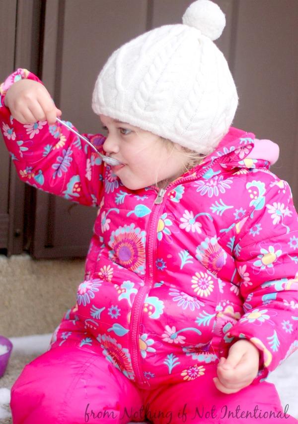 Make snow ice cream! Try the mint--it's amazing!