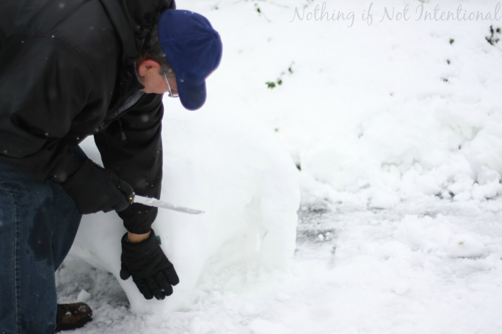 How to make a snow horse! Soooo cool!