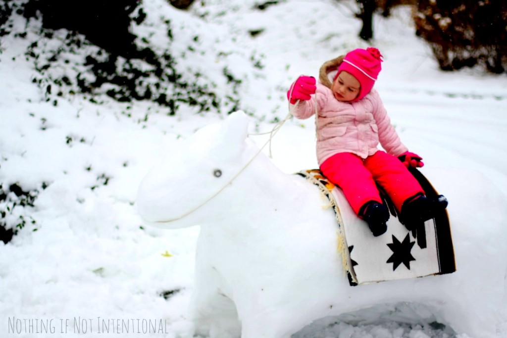 How to make a snow horse! sooo cool!