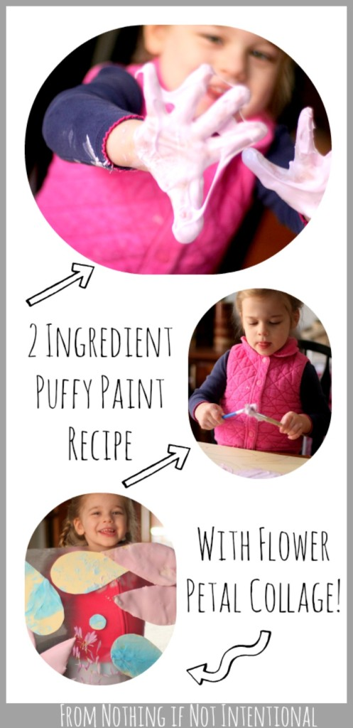 Easy-to-make puffy paint recipe with flower sun catchers. Trust me--you want to try this!