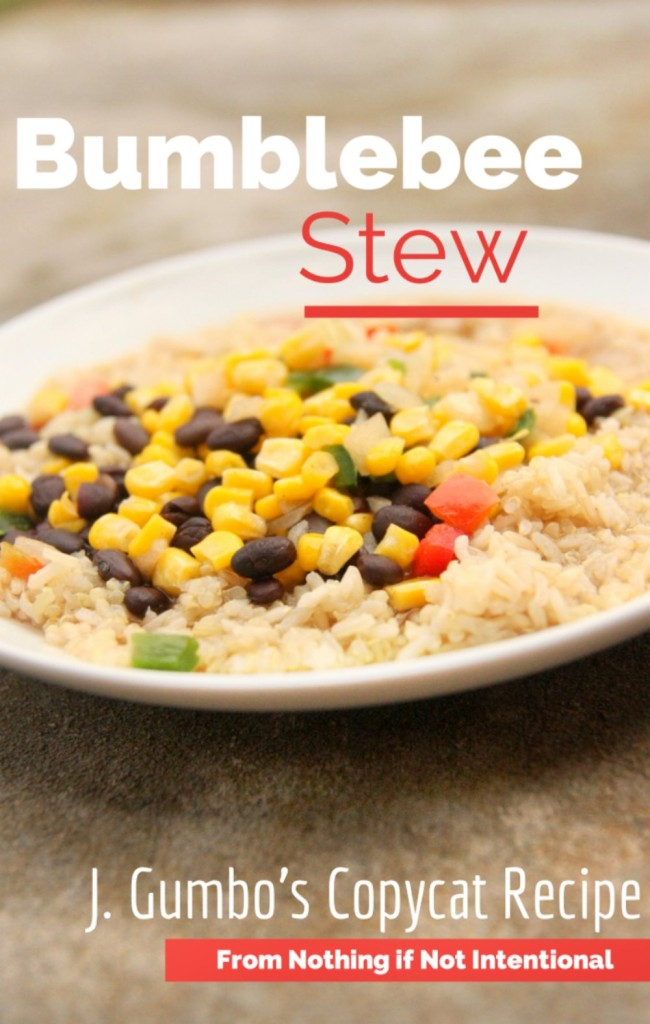 Bumblebee/Honey Stew -- just like J. Gumbo's! (Vegetarian)
