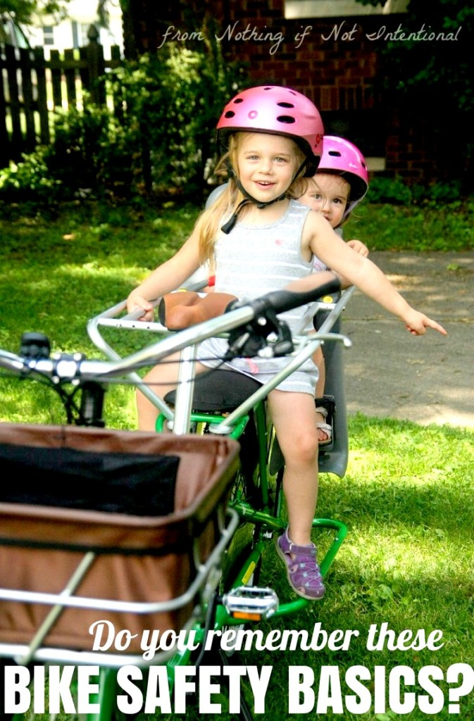 Basic bike safety tips for kids and families. We struggle with #3! How about you?