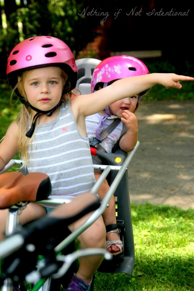 Share the road--bike safety tips from someone who still has a lot to learn. (We struggle with #3! How about you?)