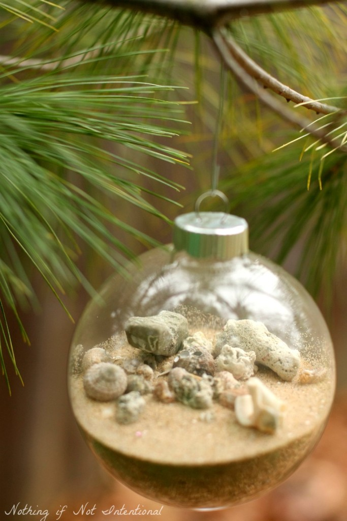 Sand and Seashells: Travel Souvenir and DIY Christmas Ornament!