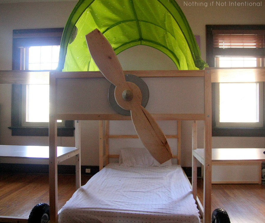 Ikea bed hack: Kura loft into airplane bunk beds