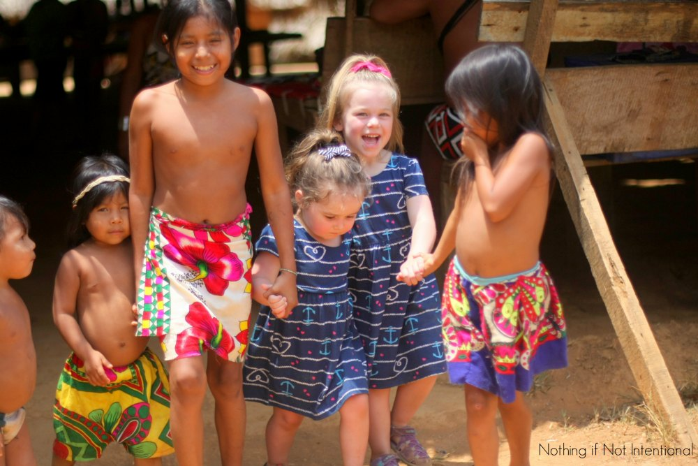 What it's like to take kids to on an authentic Embera Indian Village Tour during a cruise to the Panama Canal