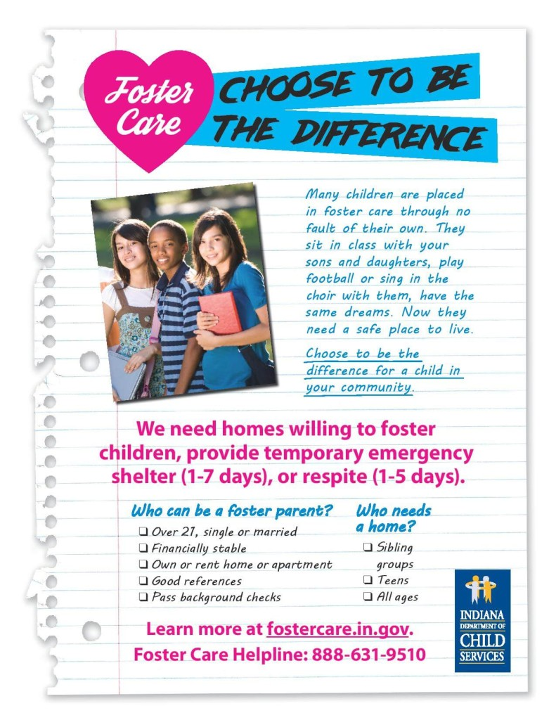 How to become a foster parent in Vigo County and Indiana