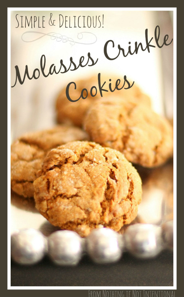Easy to make and delicious! Molasses crinkle cookies.