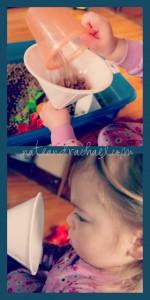 bean sensory bin