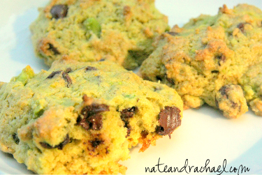 healthy chocolate chip cookies -- avocado