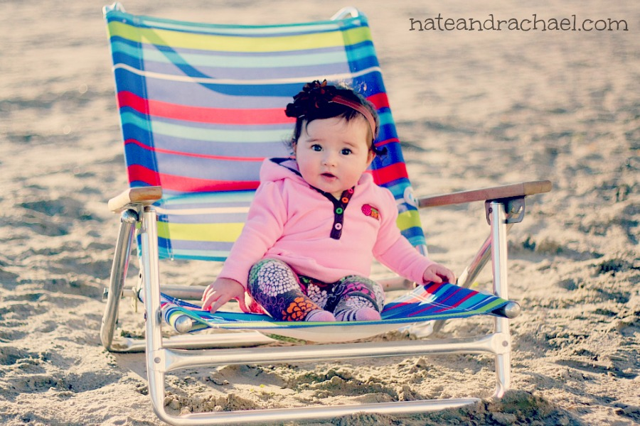 Baby Beach Bum! Tips for taking baby to the beach.