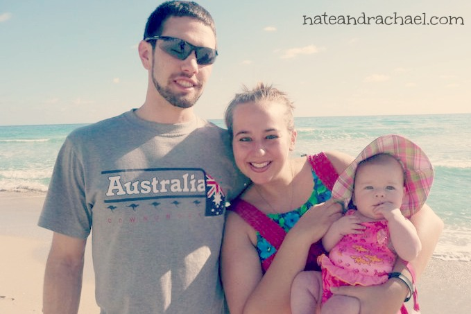 Our first beach trip with baby! December 2010.