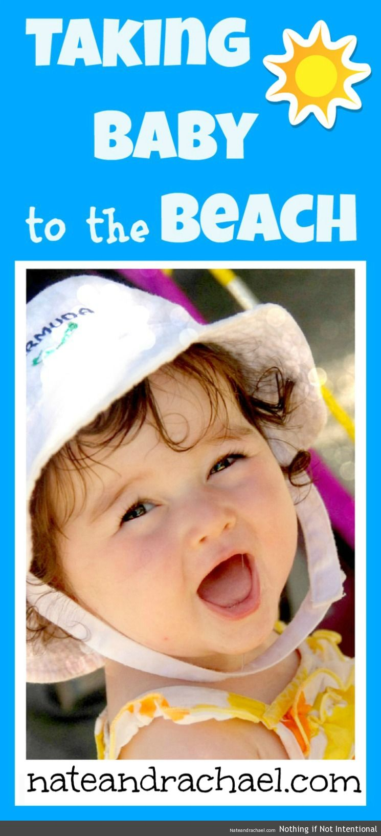 Baby beach bum--Tips for taking baby to the beach!