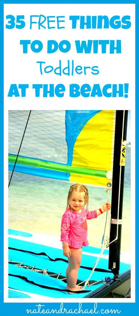 FREE things to do at the beach with young kids!