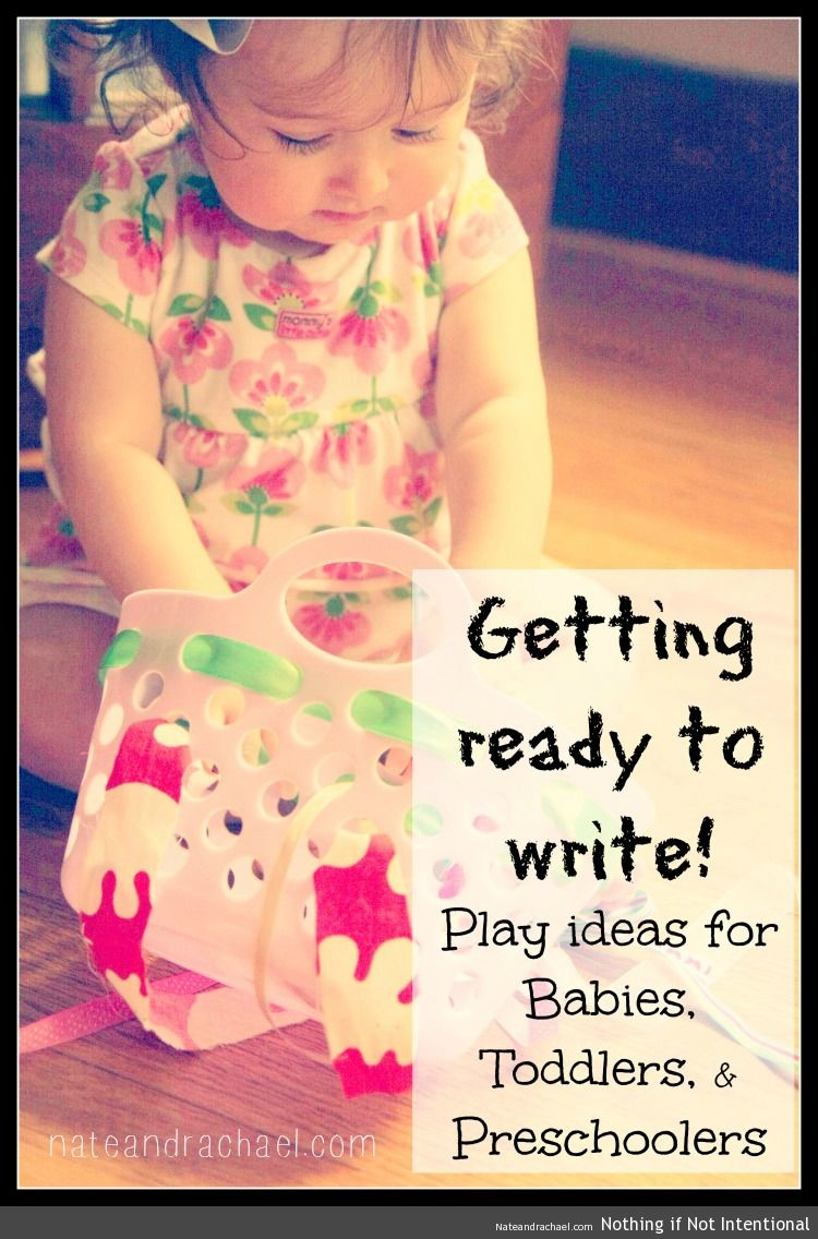 Fine motor skills--playful ideas for babies, toddlers, and preschoolers from nateandrachael.com.
