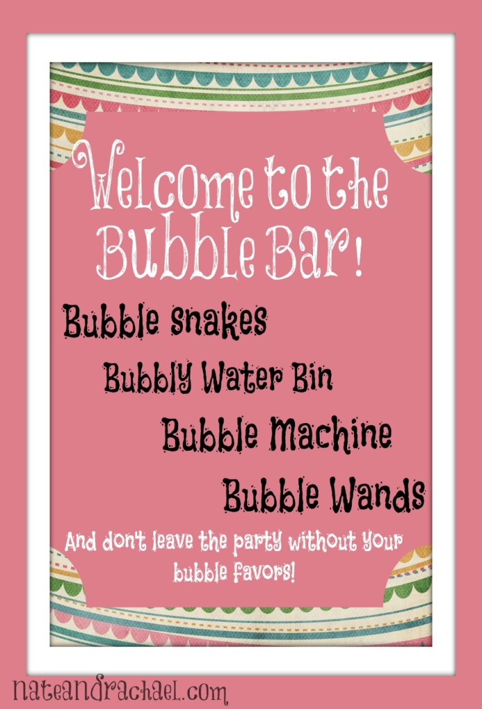 Kids love bubbles! Make your own bubble bar for clean sensory fun at play dates and birthday party. Details and ideas in post.