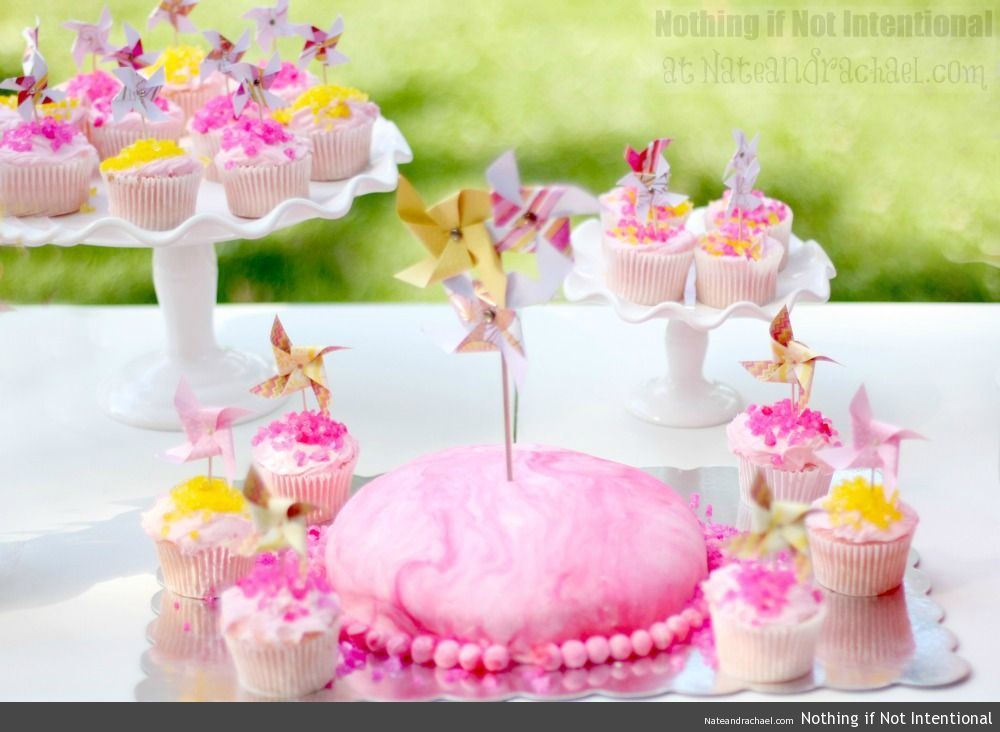 Pink Lemonade and Pinwheels--Make Your Own Invites!
