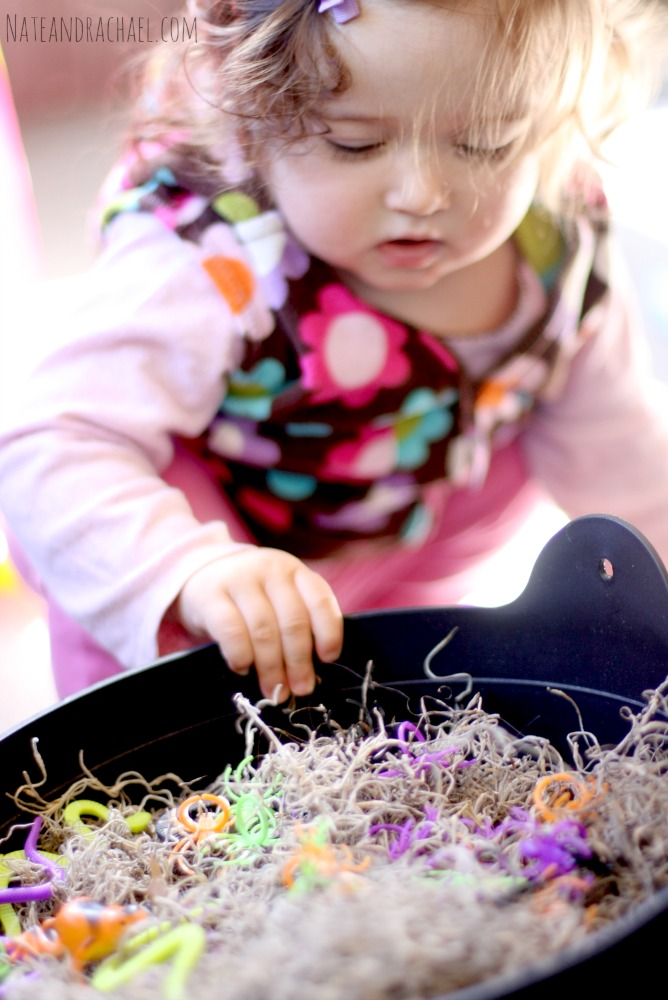 More crawly than creepy, your kids may surprise you with how they interact with this simple and fun Halloween play invitation from Nothing if Not Intentional.