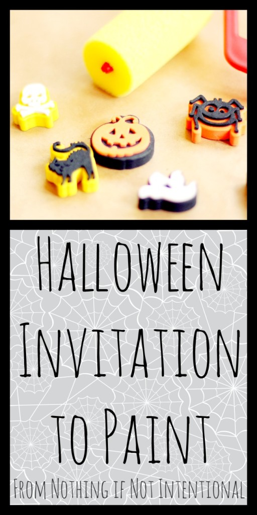 Halloween art--invitation to create using edible/baby safe paint!