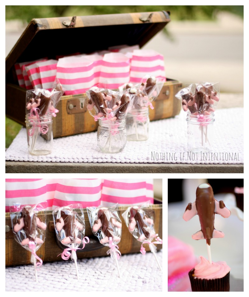 Airplane birthday party--see post for tons of fun ideas! I love the chocolate airplane suckers!
