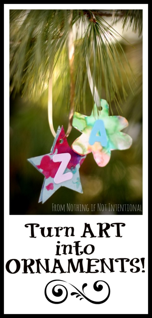 Turn your child's art into ornaments!