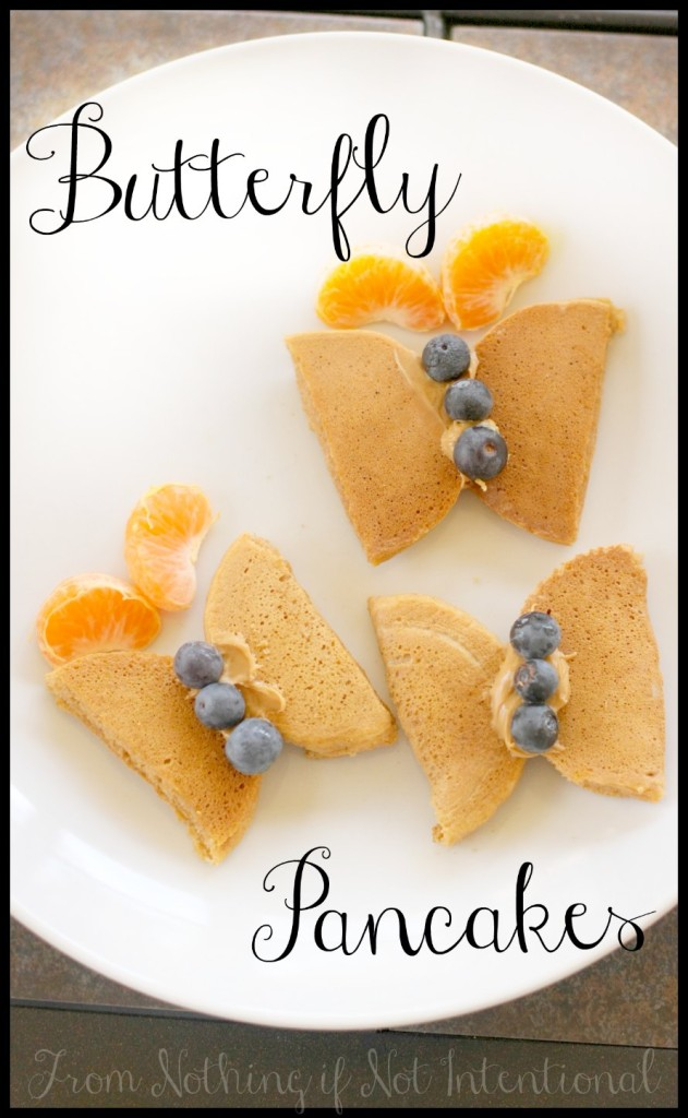 Healthy Butterfly Pancakes