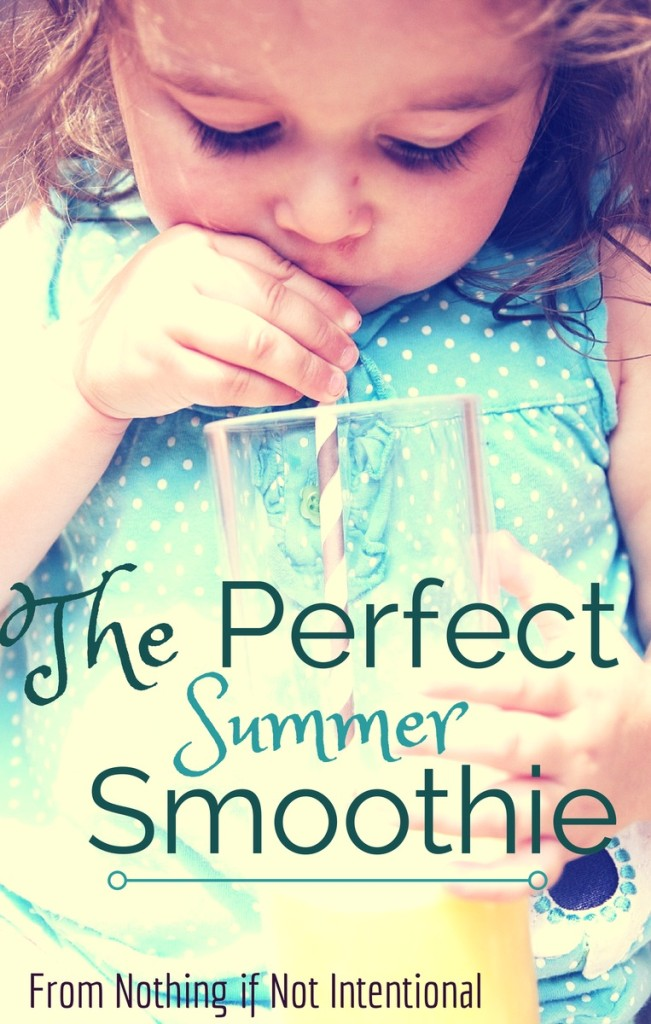 The perfect summer smoothie--just three ingredients!