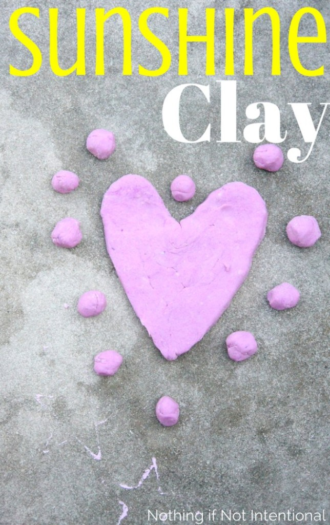 Summer Sunshine Clay. Air-dry clay recipe made with taste-safe ingredients!
