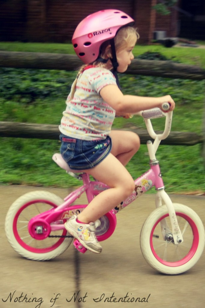 The key to teaching a child how to ride a bike at an early age.