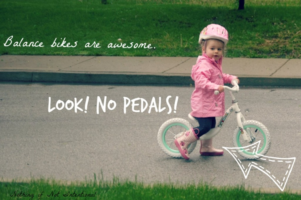 Balance bikes make transitioning to pedal bikes easy and fast! Check out this post to see how it worked out for this three-year-old.