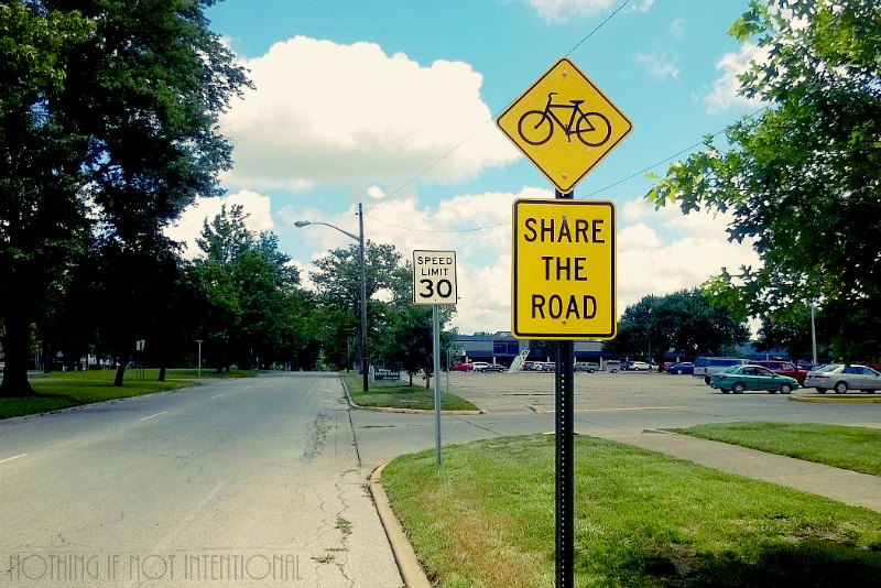 Share the Road--Bike Safety Tips for Kids and Families (Which of these rules are you breaking? We struggle with #3!)