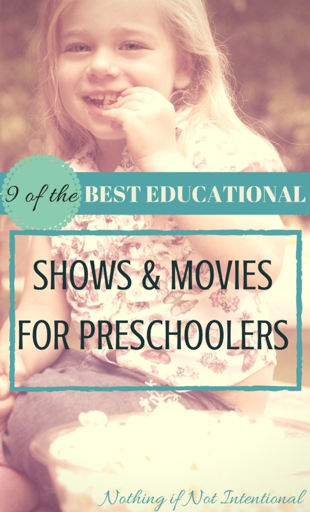Nine of the best educational shows for preschoolers. Perfect for screen time or movie night!