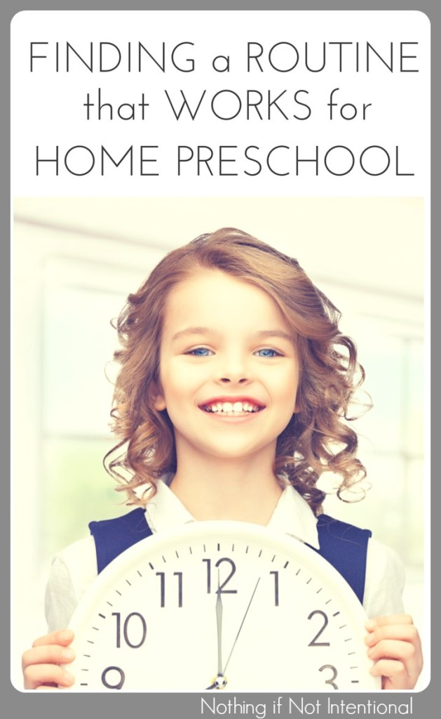 Finding a homeschool preschool schedule that works for you.
