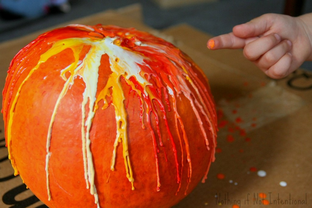 Melted Crayon Pumpkins